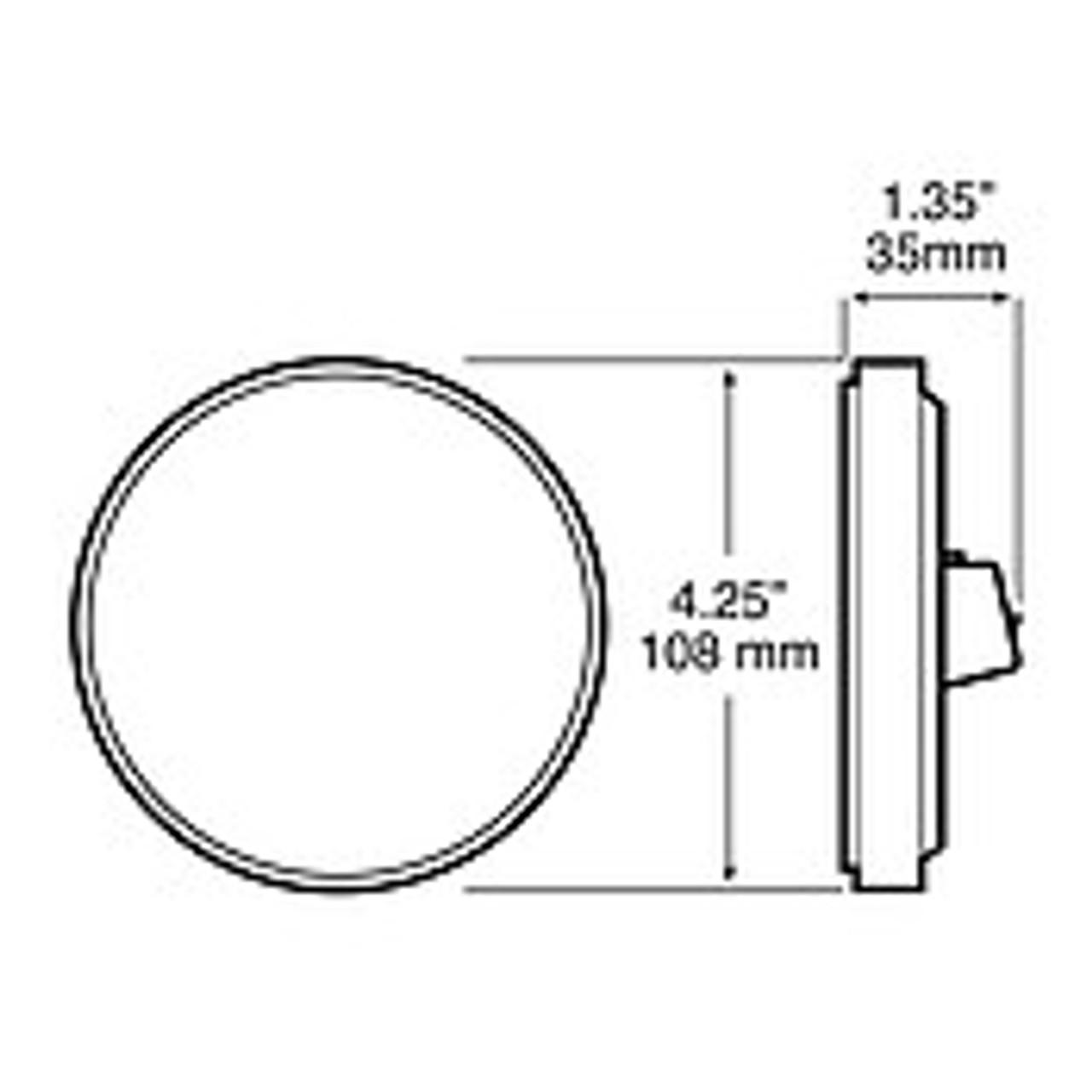 "LED872C9 --- Touch Light - LED Round 4"" for Interior/Dome Light"