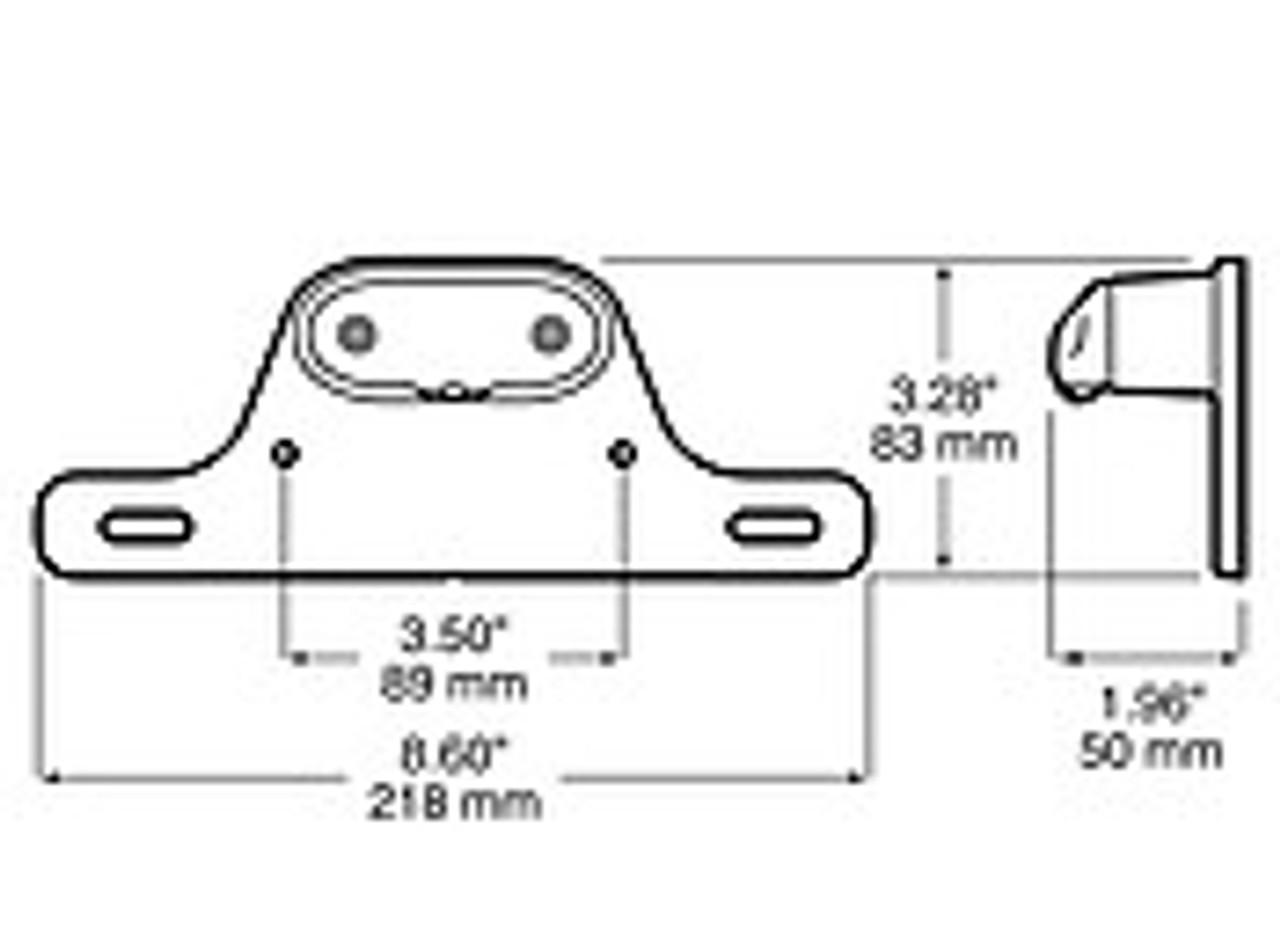LED290BK --- LED Licence Plate Light