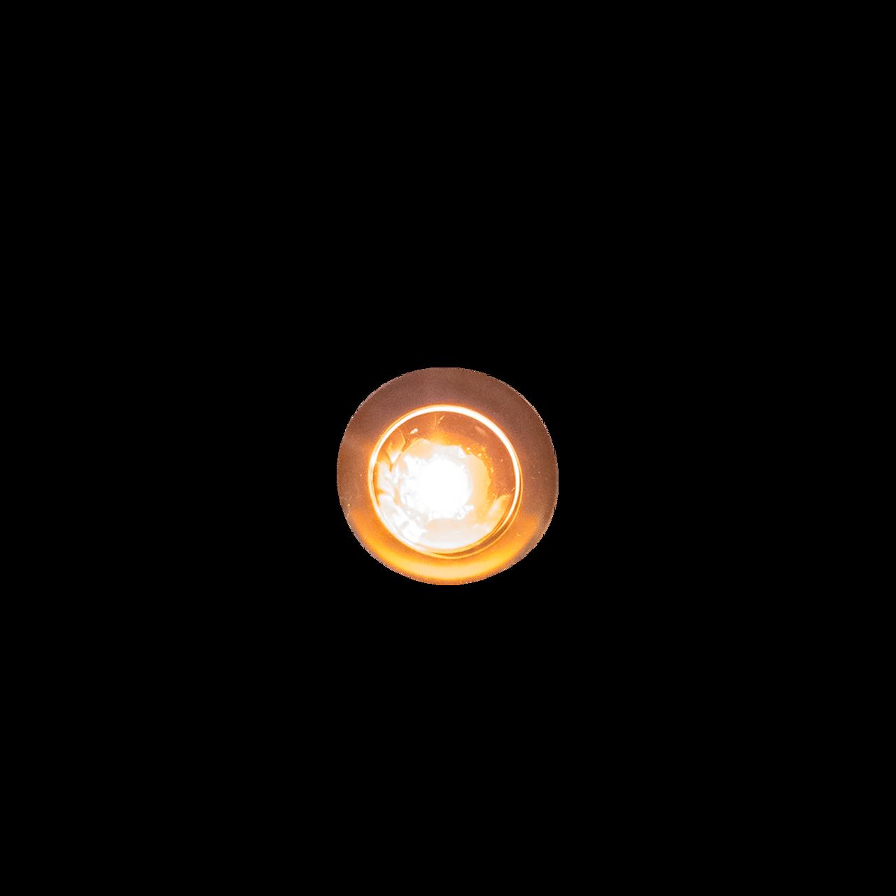 "LEDS37KAC1 --- Raised Amber 1"" Round Sealed LED Clearance/Side Marker Light Kit - 1 Diode"