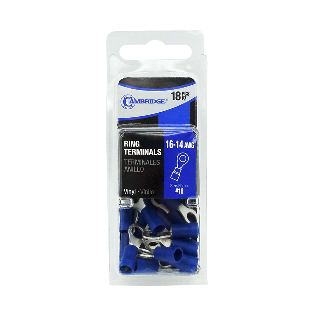 T13740 --- Blue Ring Terminal Package - #10