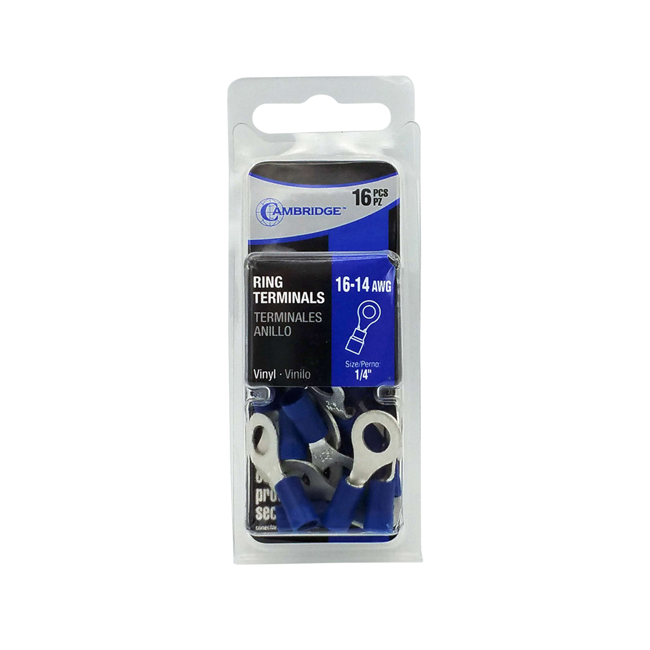 """T13738 --- Blue Ring Terminal Package - 1/4"""""""