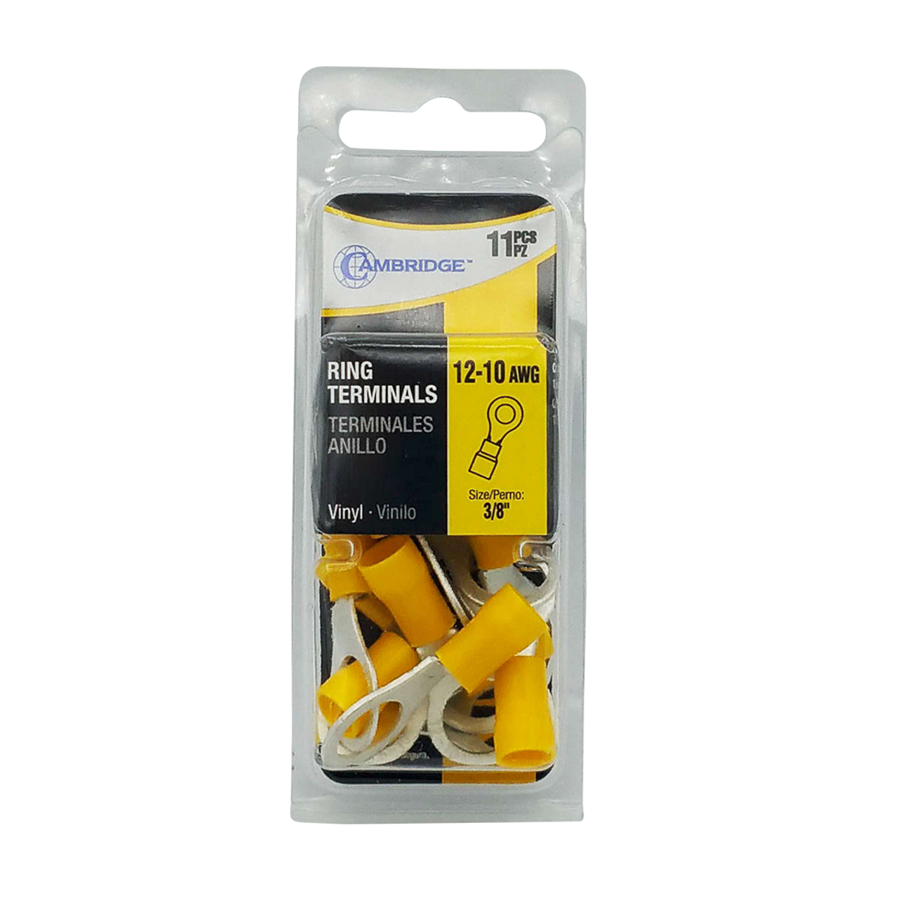"""T13735 --- Yellow Ring Terminal Package - 3/8"""""""