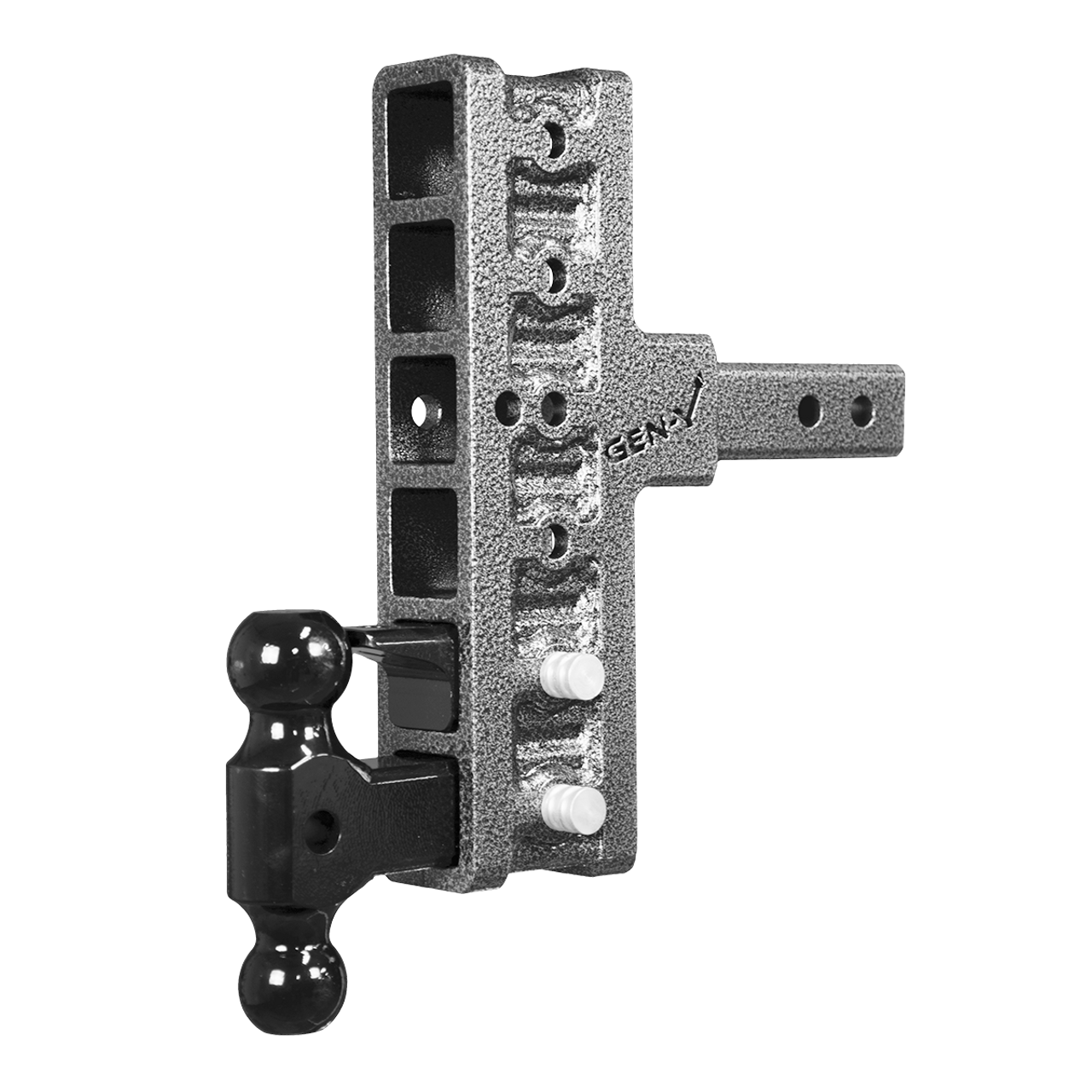 GH-426 --- Six Position Mega-Duty Offset Shank with Dual Ball and Pintle - 10,000 lb Capacity