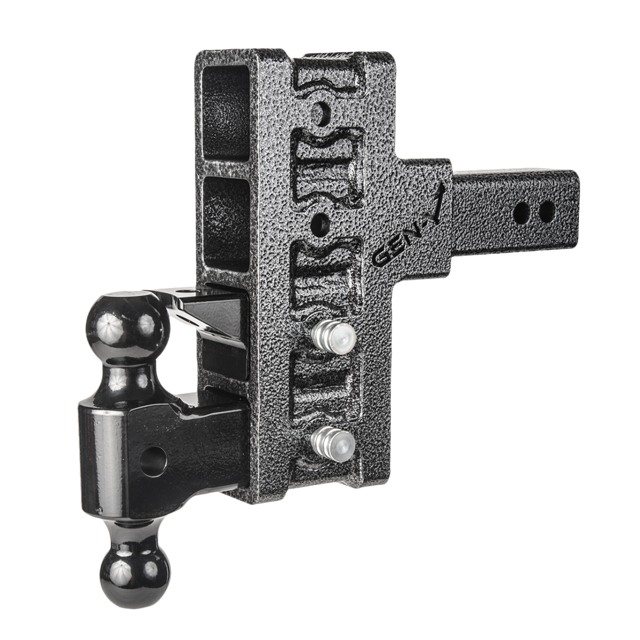 """GH-924 --- Four Position Mega-Duty Offset 2.5"""" Shank with Dual Ball and Pintle - 21,000 lb Capacity"""
