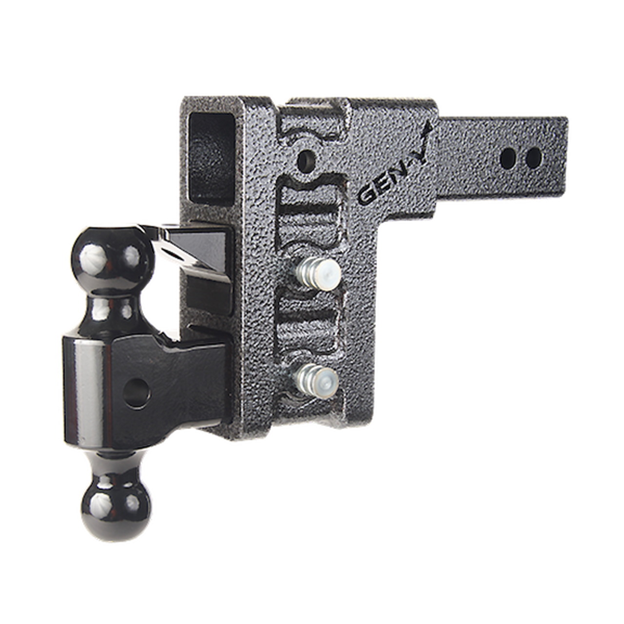 """GH-623 --- Three Position Mega-Duty 2.5"""" Shank with Dual Ball and Pintle - 21,000 lb Capacity"""