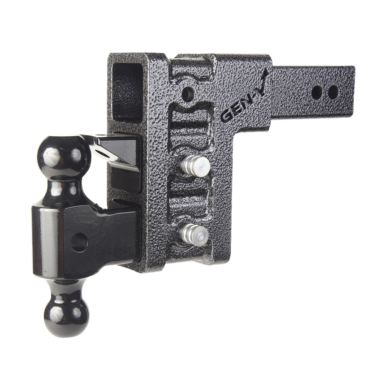 """GH-1623 --- Three Position Mega-Duty 2.5"""" Shank with Dual Ball and Pintle - 32,000 lb Capacity"""