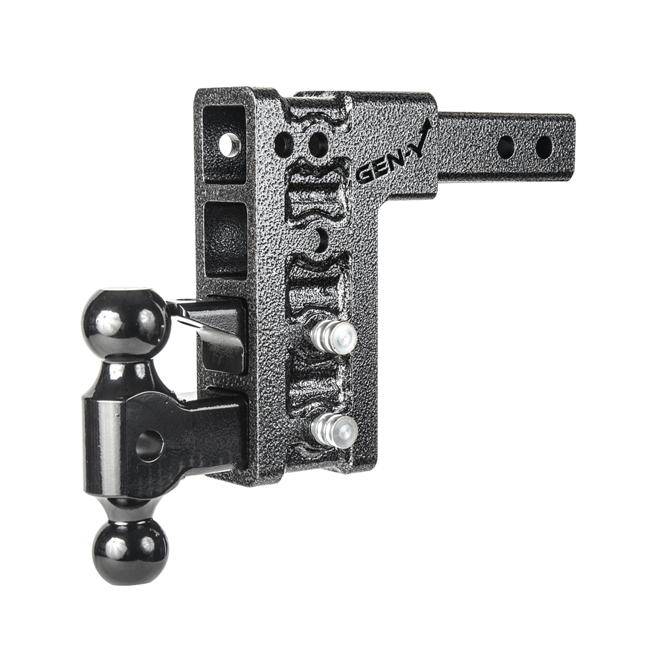 """GH-1624 --- Four Position Mega-Duty 2.5"""" Shank with Dual Ball and Pintle - 32,000 lb Capacity"""