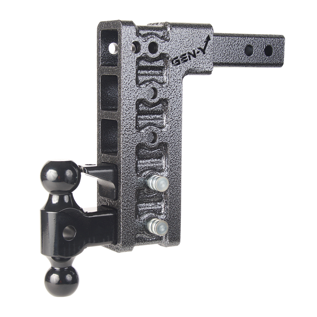 """GH-1625 --- Five Position Mega-Duty 2.5"""" Shank with Dual Ball and Pintle - 32,000 lb Capacity"""