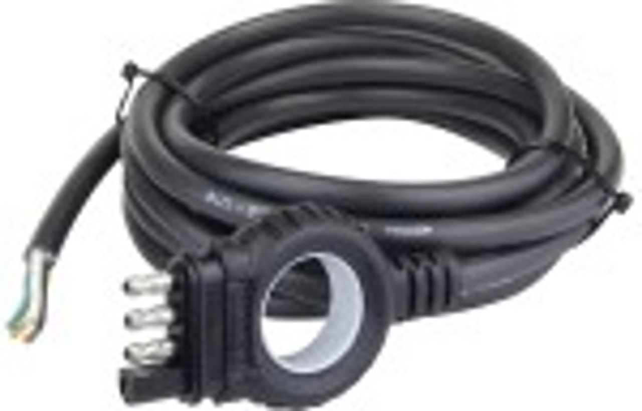 38116 --- Endurance Easy-Pull 4-Prong Flat with Jacketed Cable Trailer End - 18'