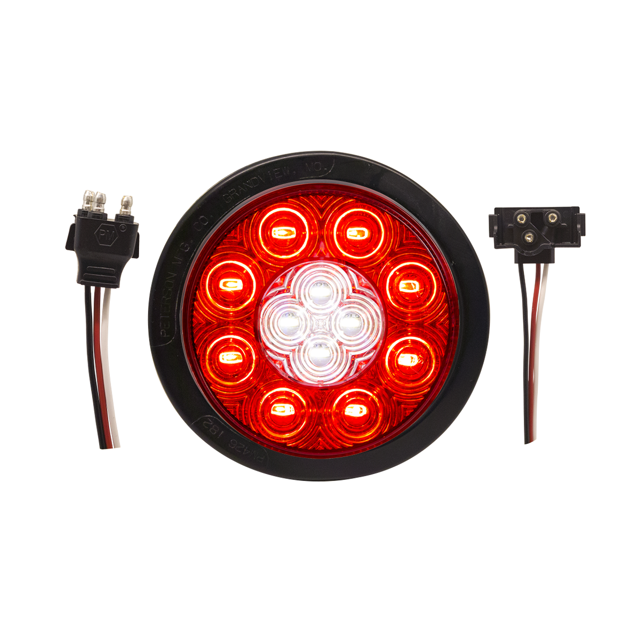 5624130K --- Round Sealed LED Combination Stop/Turn/Tail/Back-Up Light Kit