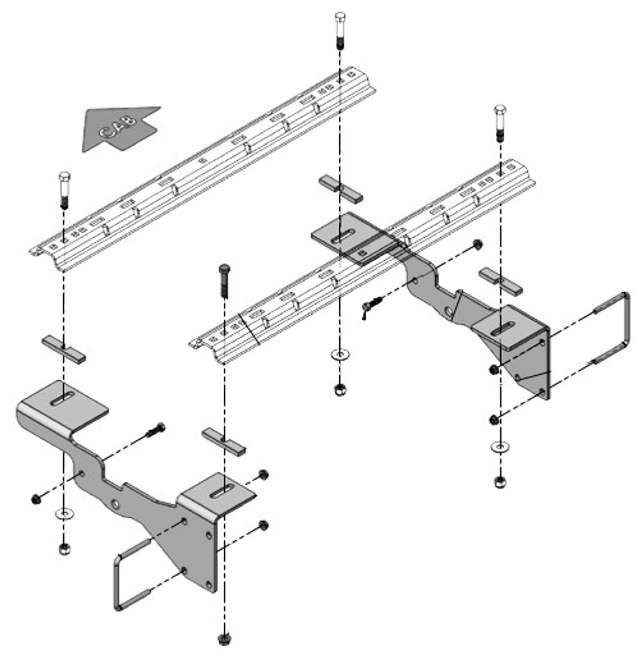 8552034 --- Demco Rail Kit - Premier or Ultra Series