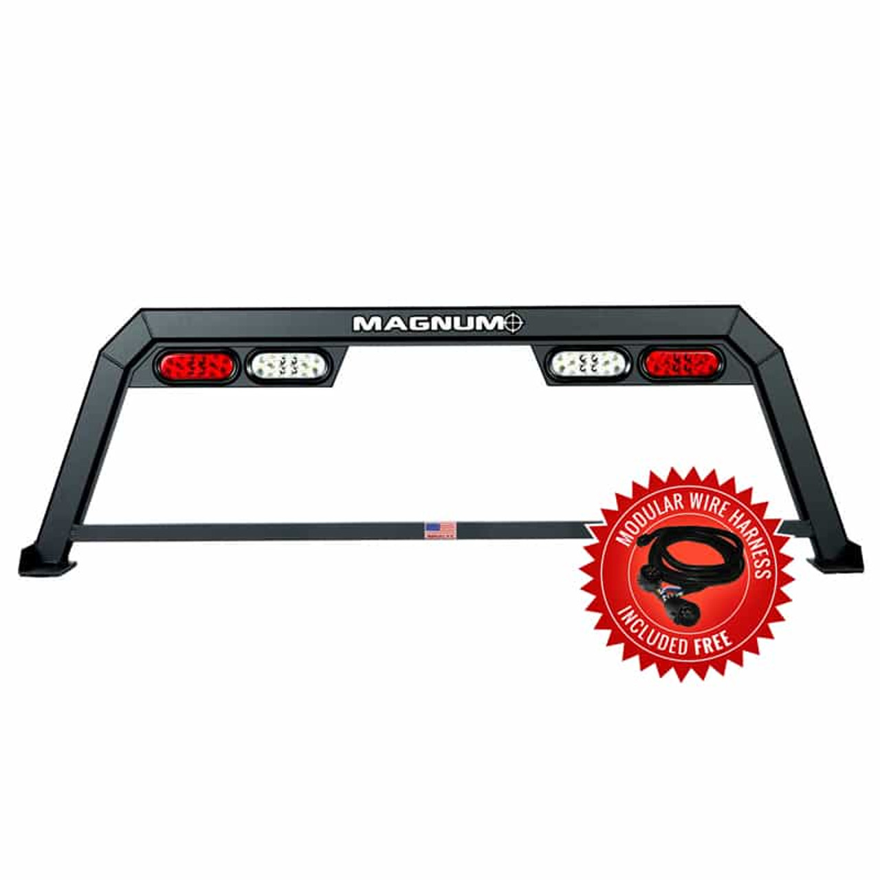 Hollow Point Truck Rack with Lights - Low Pro