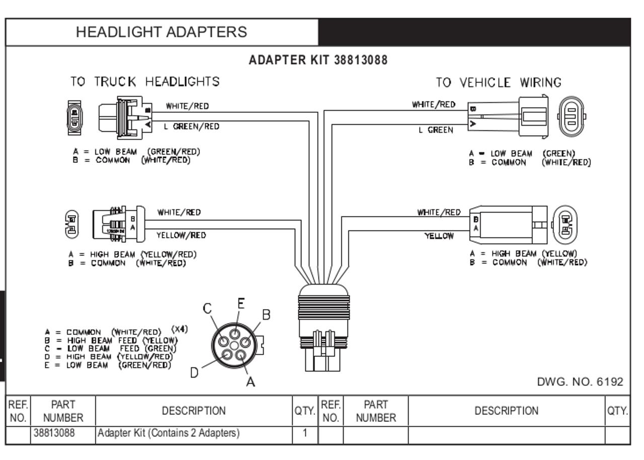HN38813088 --- Hiniker Headlight Adapter Kit