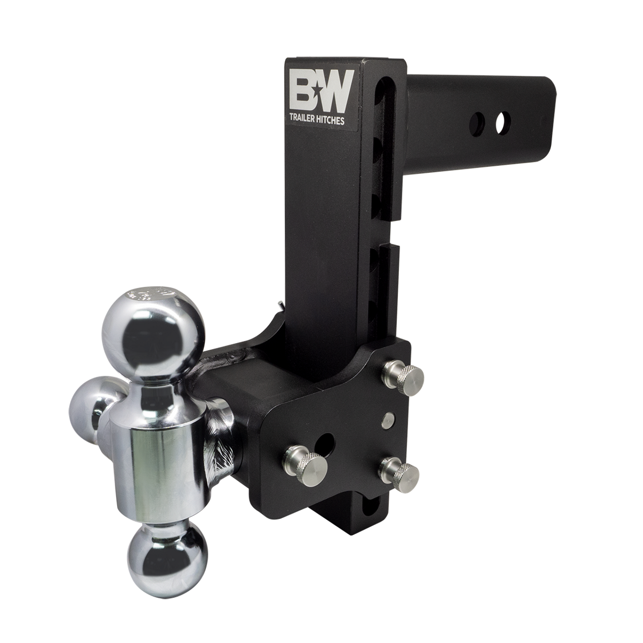 "BW20050B --- B&W 2.5"" Shank Tow and Stow Adjustable Tri-Ball Mount, 8.5"" Maximum Drop"