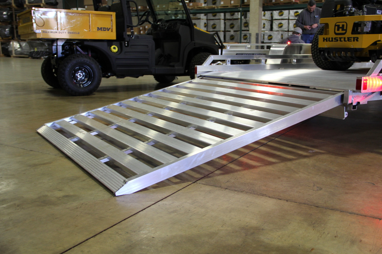 "AL7712HSLR --- 77"" x 12' Aluminum Utility Heavy Duty Trailer with Ramp Gate"