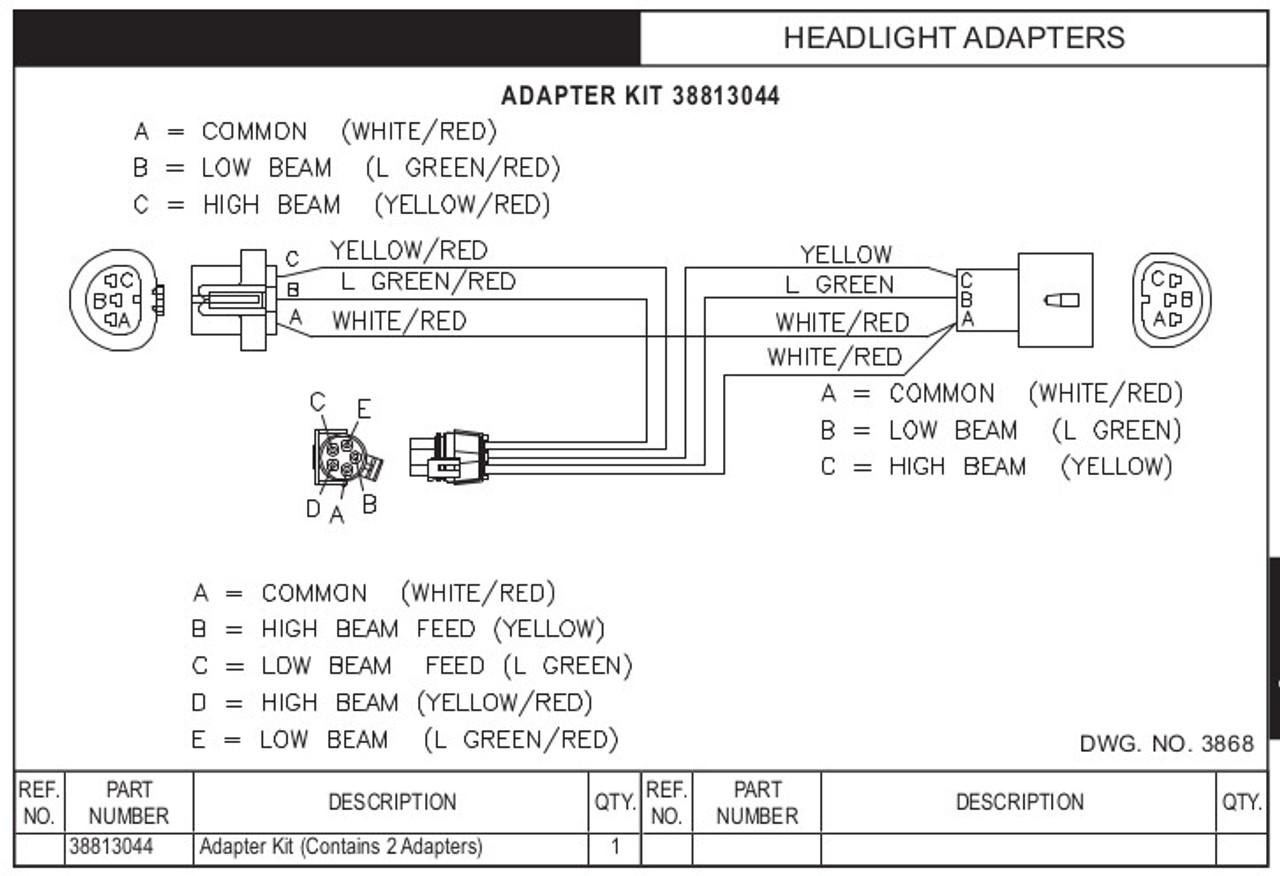 HN38813044 --- Hiniker Headlight Adapter Kit