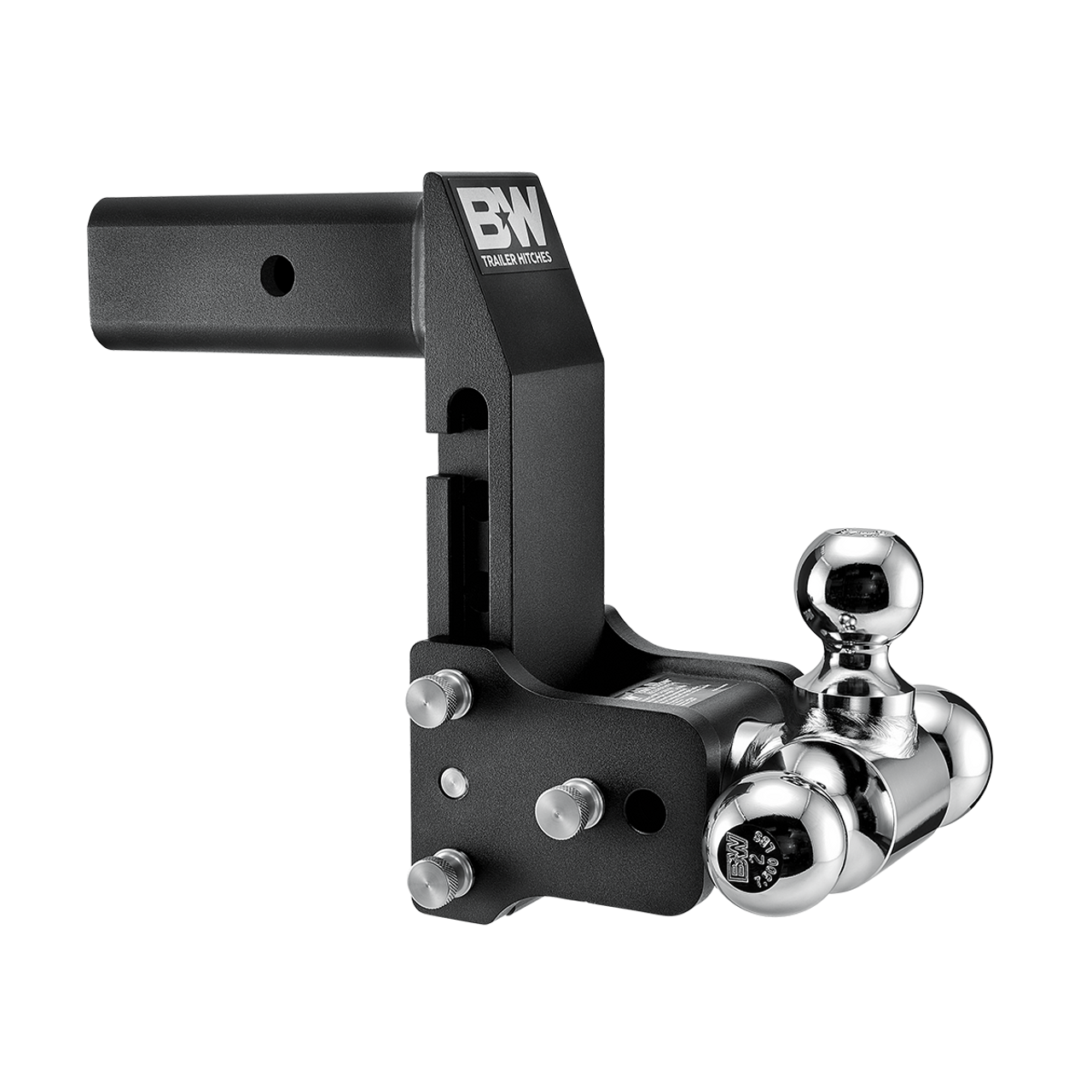 "BW20067BMP --- 2.5"" Shank Tow and Stow compatible with GM Multi-Pro Tailgate - Tri-Ball Mount, 7"" Maximum Drop"