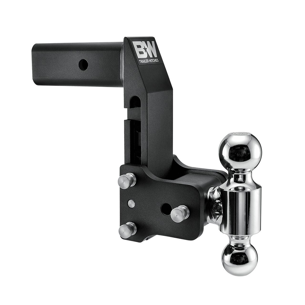 """BW20066BMP --- 2.5"""" Shank Tow and Stow compatible with GM Multi-Pro Tailgate - Two Hitch Balls, 7"""" Maximum Drop"""