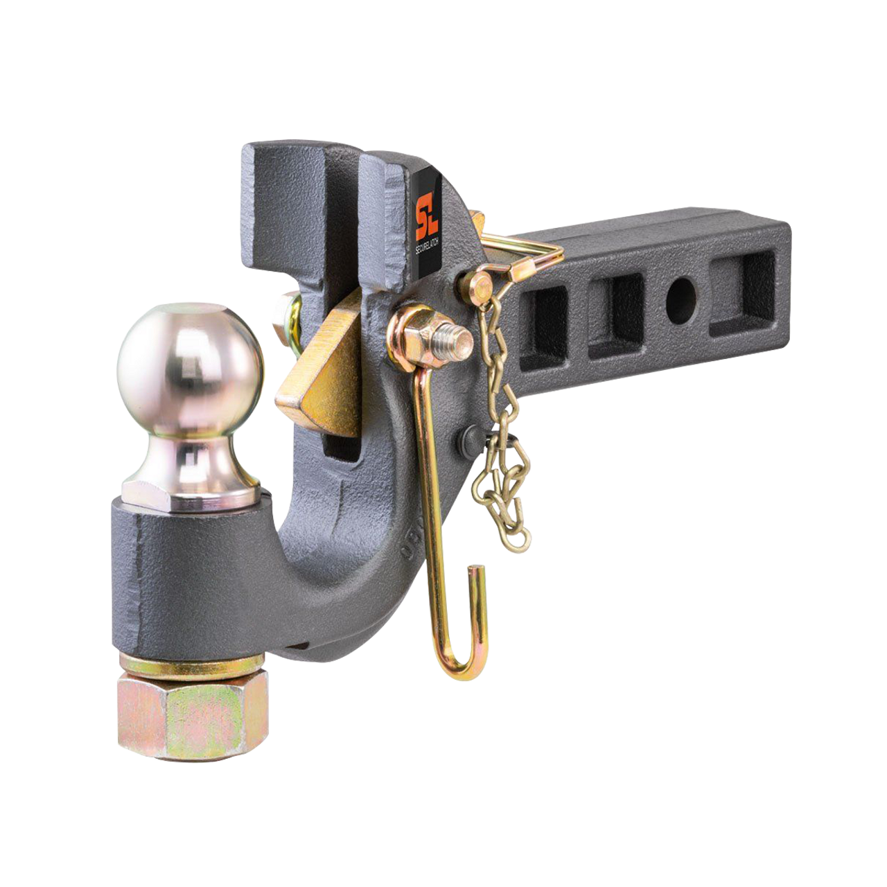 """48407 --- SecureLatch™ Receiver Mount Pintle Hook Combination with 2"""" Hitch Ball"""