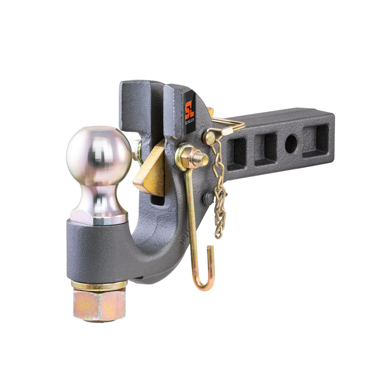 """48406 --- SecureLatch™ Receiver Mount Pintle Hook Combination with 2-5/16"""" Hitch Ball"""