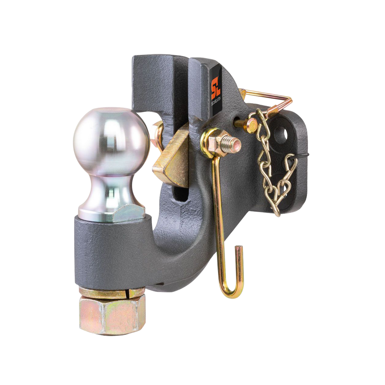 "48410 --- SecureLatch™ Pintle Hook Combination with 2-5/16"" Hitch Ball - 20,000 lb Capacity"
