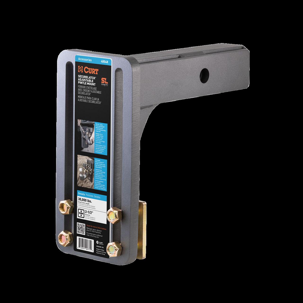 """48548 --- SecureLatch™ Adjustable Pintle Mount - 2.5"""" Receiver"""