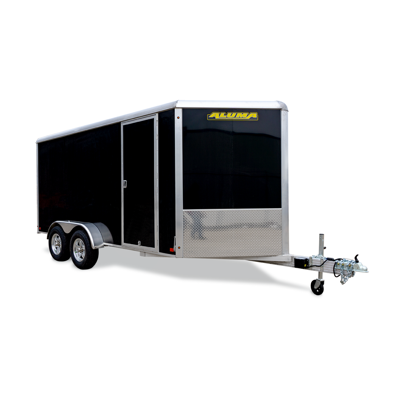 AL714TA2DRD --- 7' X 14' Enclosed Tandem Trailer with Ramp Door - Aluma