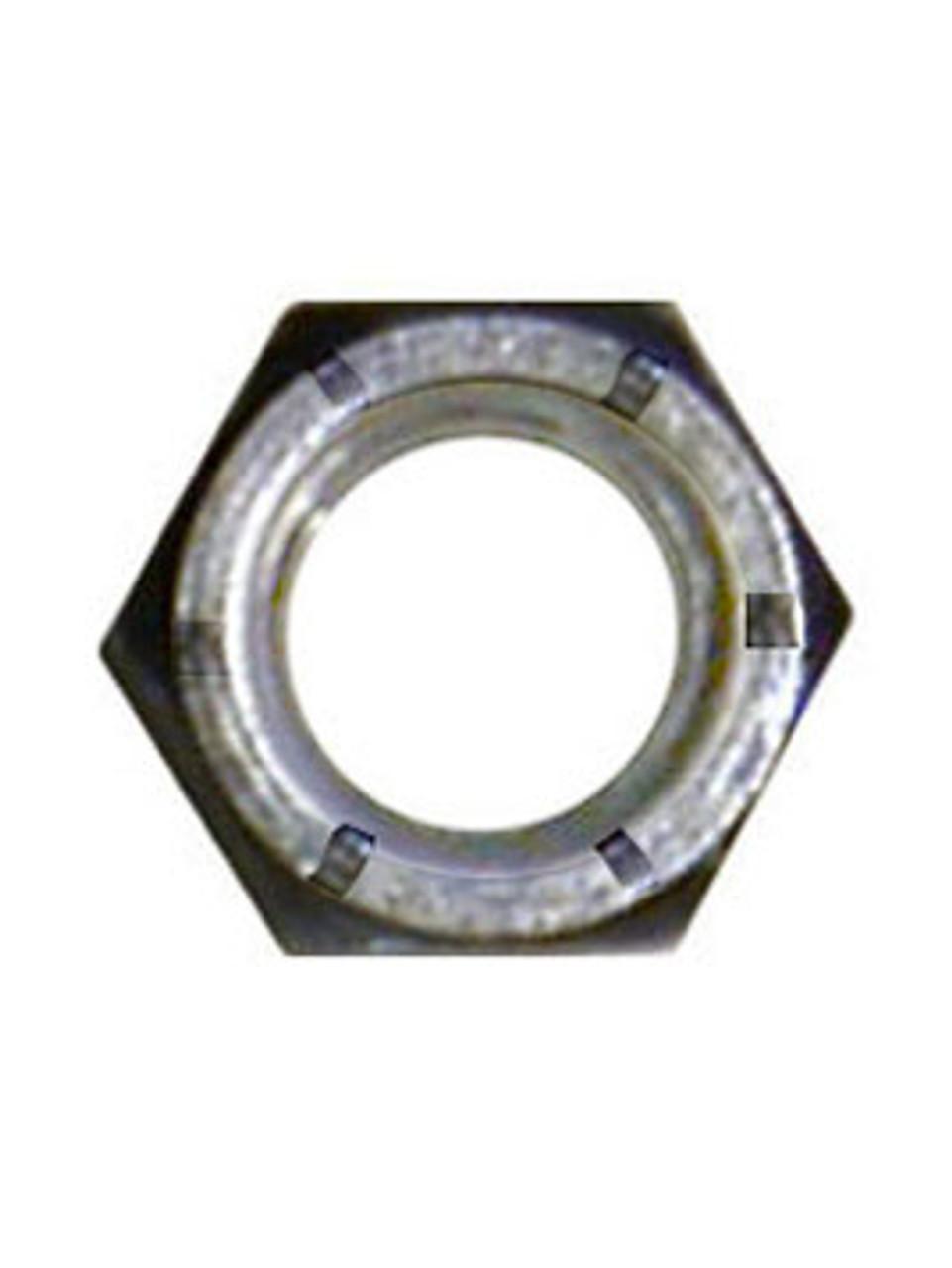 "NLN716G2ZC --- 7/16"" Zinc Nylon Lock Nut Coarse Thread"