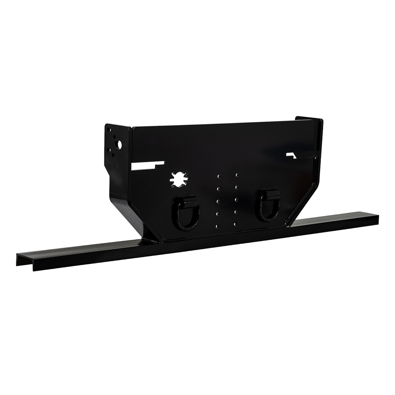 1809031A --- Hitch Plate with Pintle Hook Mount for Ford with Bottom Channel