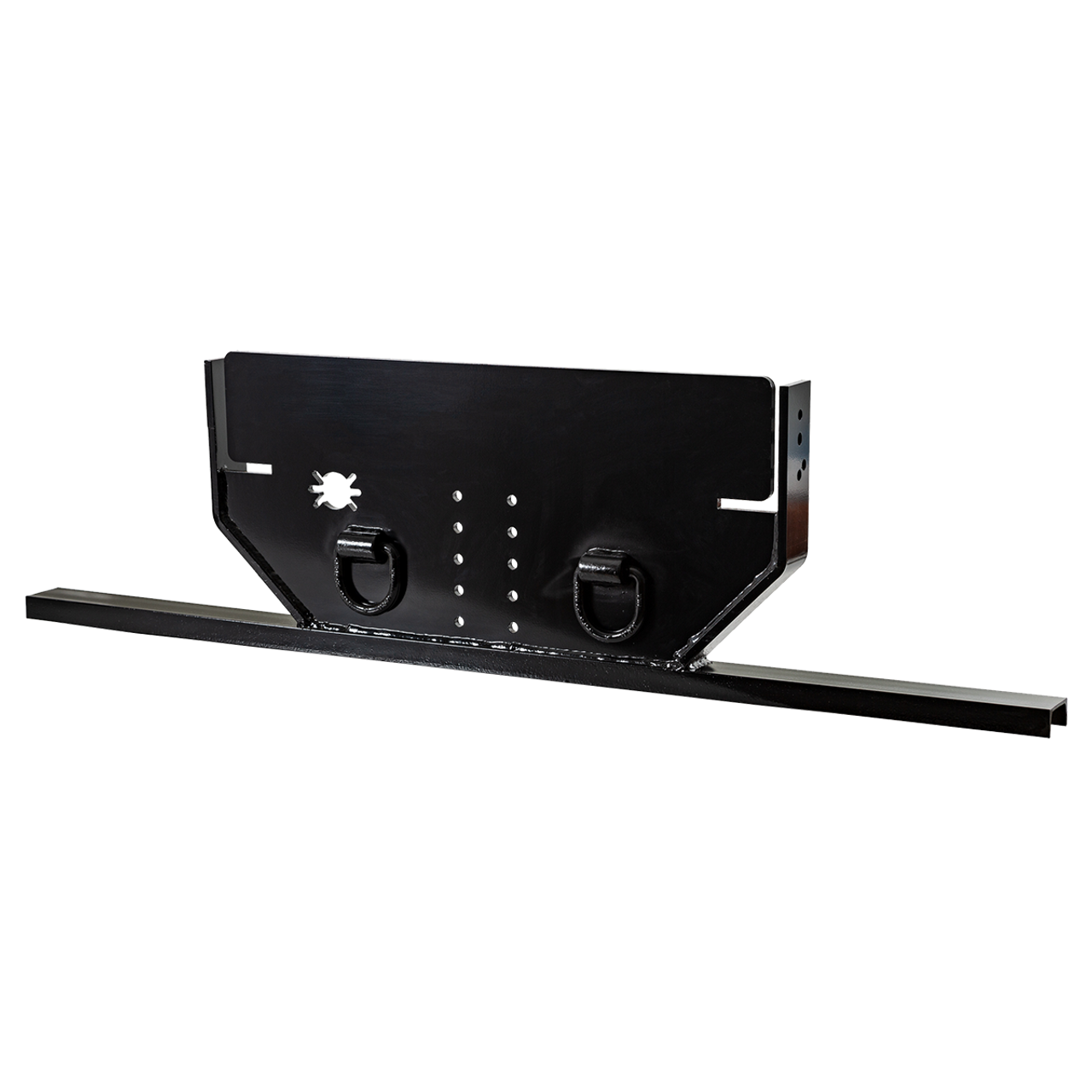 1809036 --- Hitch Plate with Pintle Hook Mount for Chevy with Bottom Channel