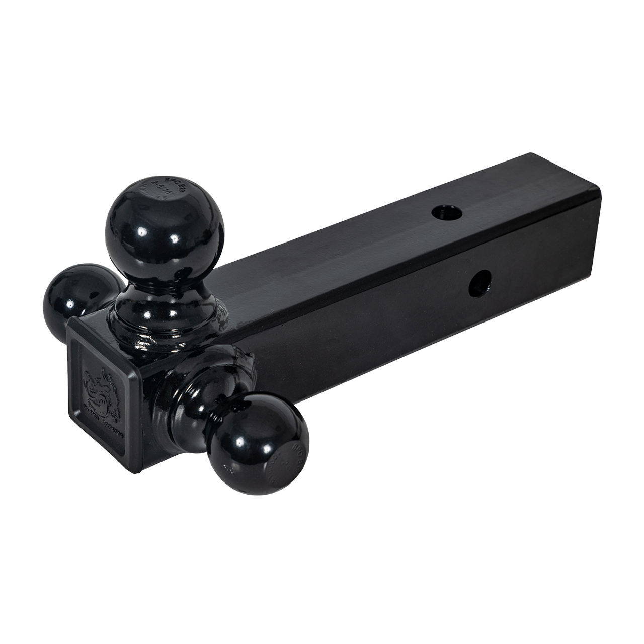 """TBM12-25B --- Tri-Ball Combination for 2.5"""" Receivers with welded Black Hitch Balls"""