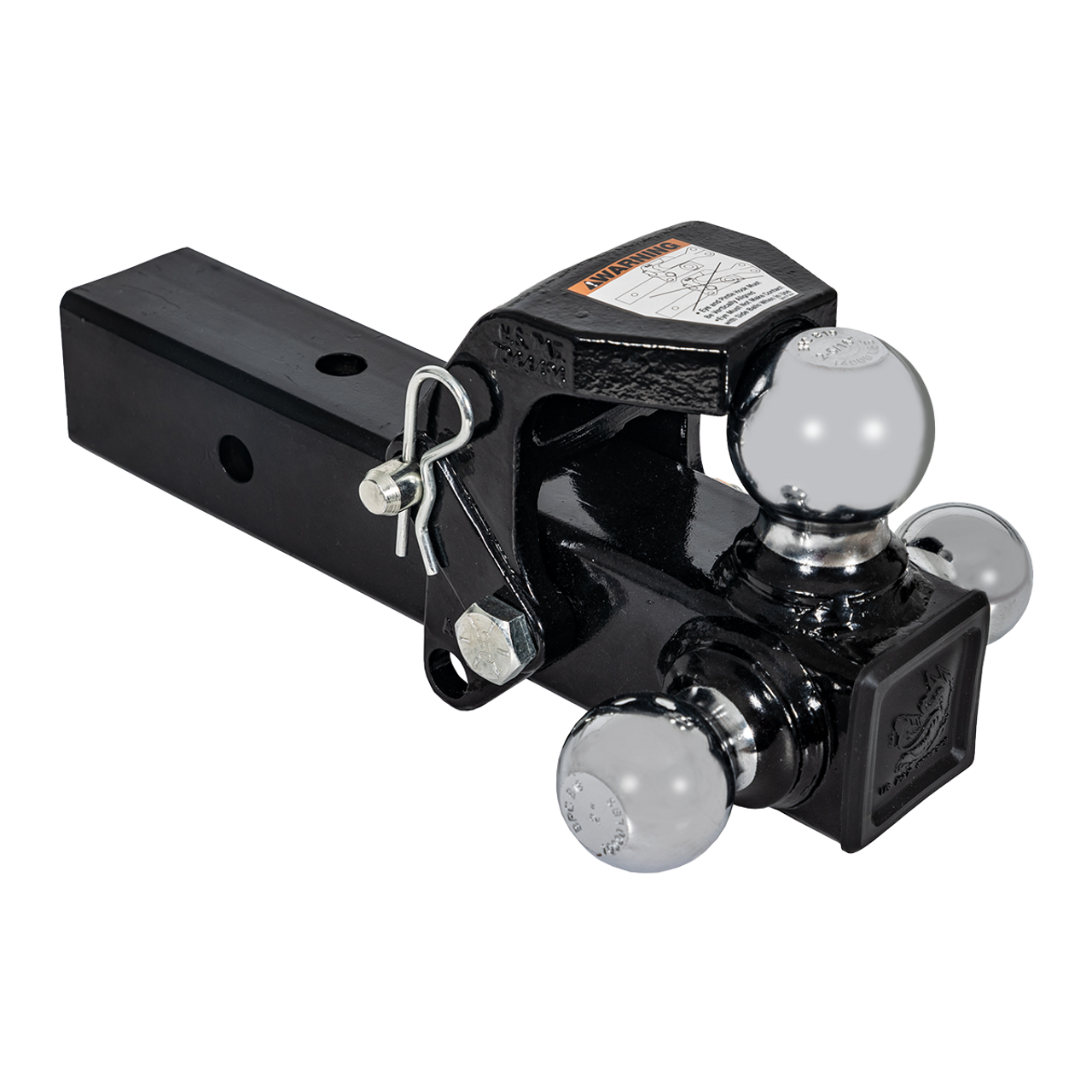 "TBM12-25P --- Tri-Ball Combination for 2.5"" Receivers with Pintle Combo"