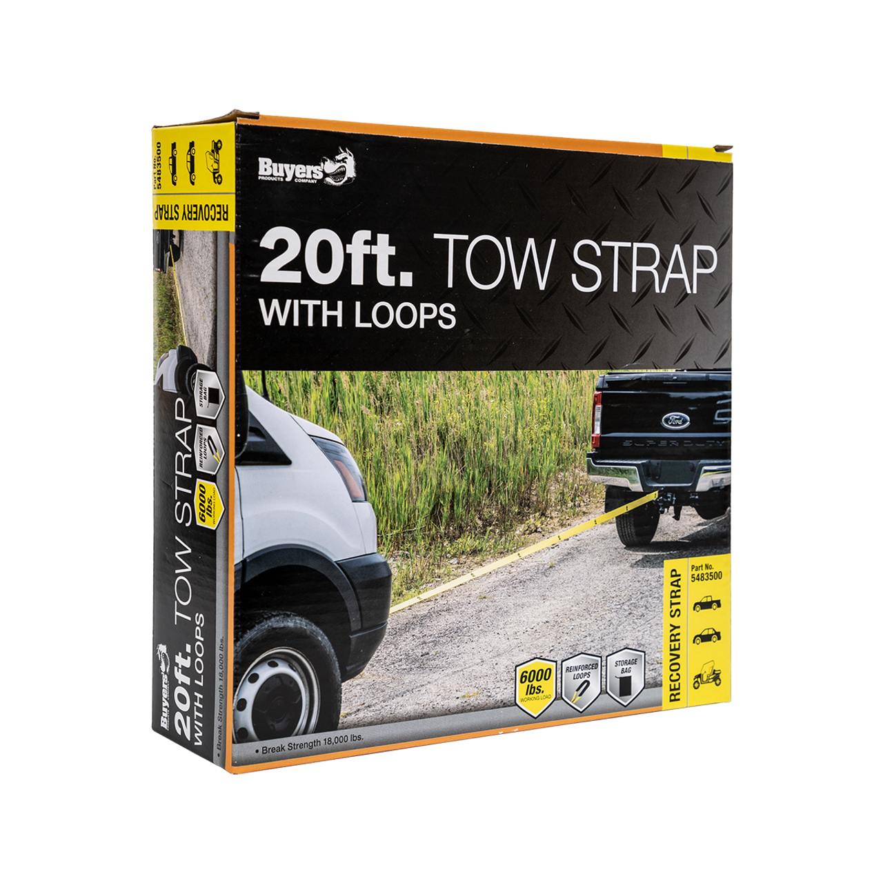 5483500 --- Tow Strap with Loop Ends - 20'