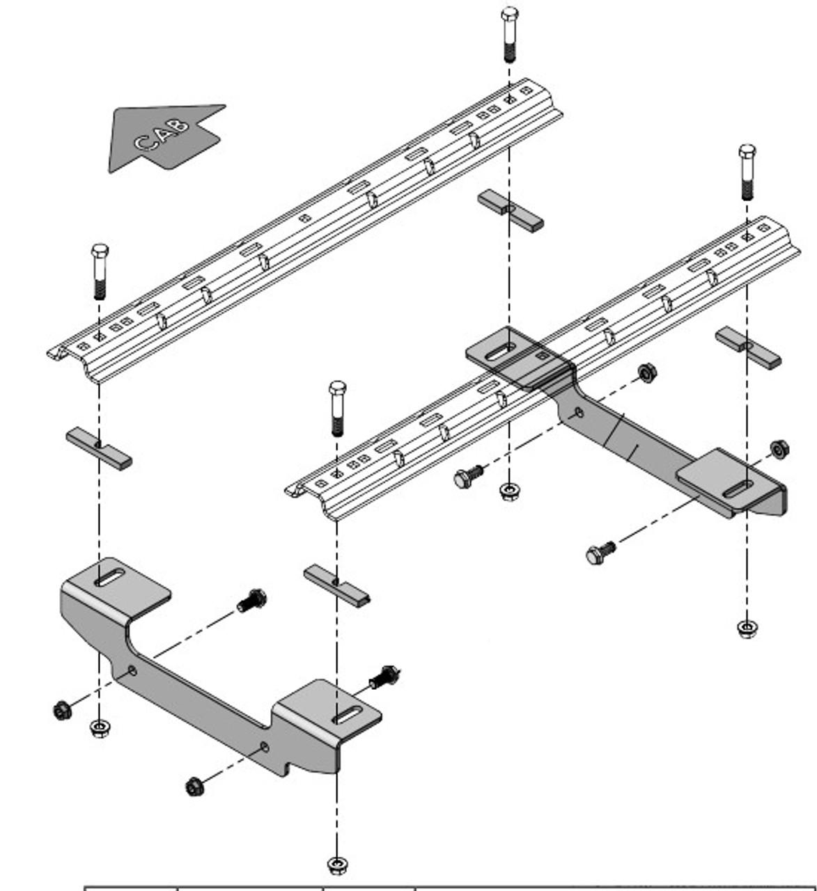 8552037 --- Demco Rail Kit - Premier or Ultra Series