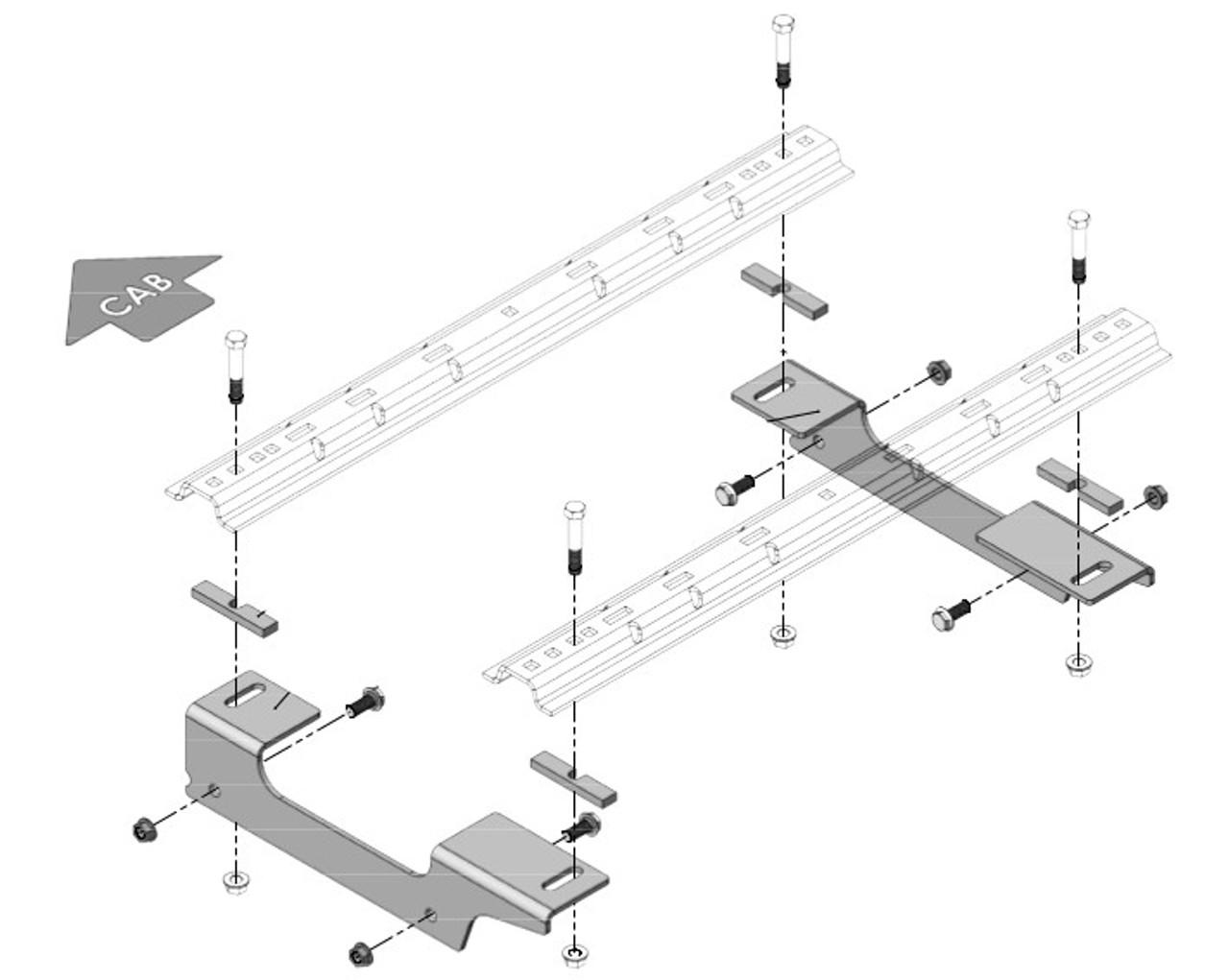 8552038 --- Demco Rail Kit - Premier or Ultra Series