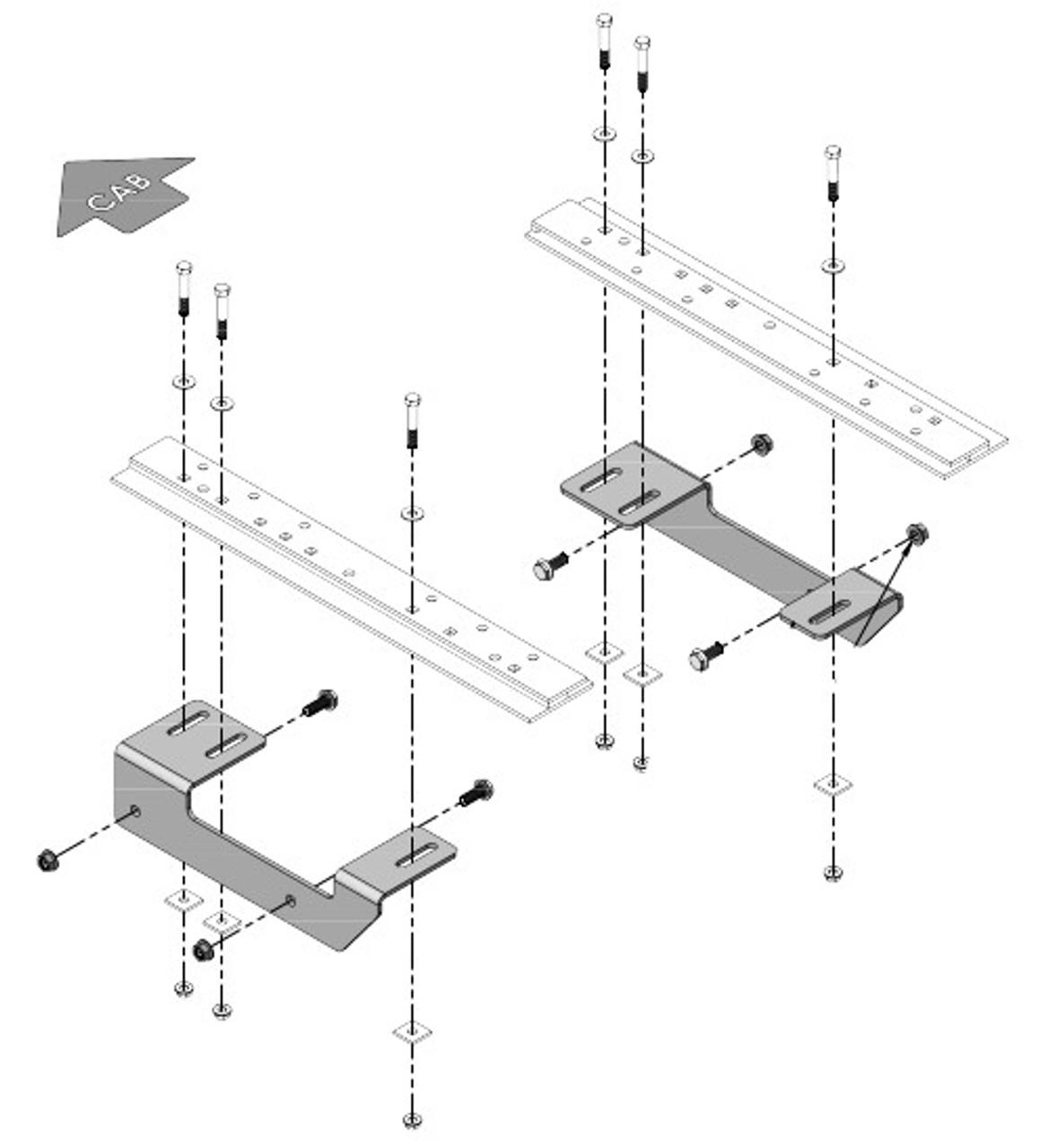 "8553020 --- Demco Rail Kit - SL Series 24"" Head Only"