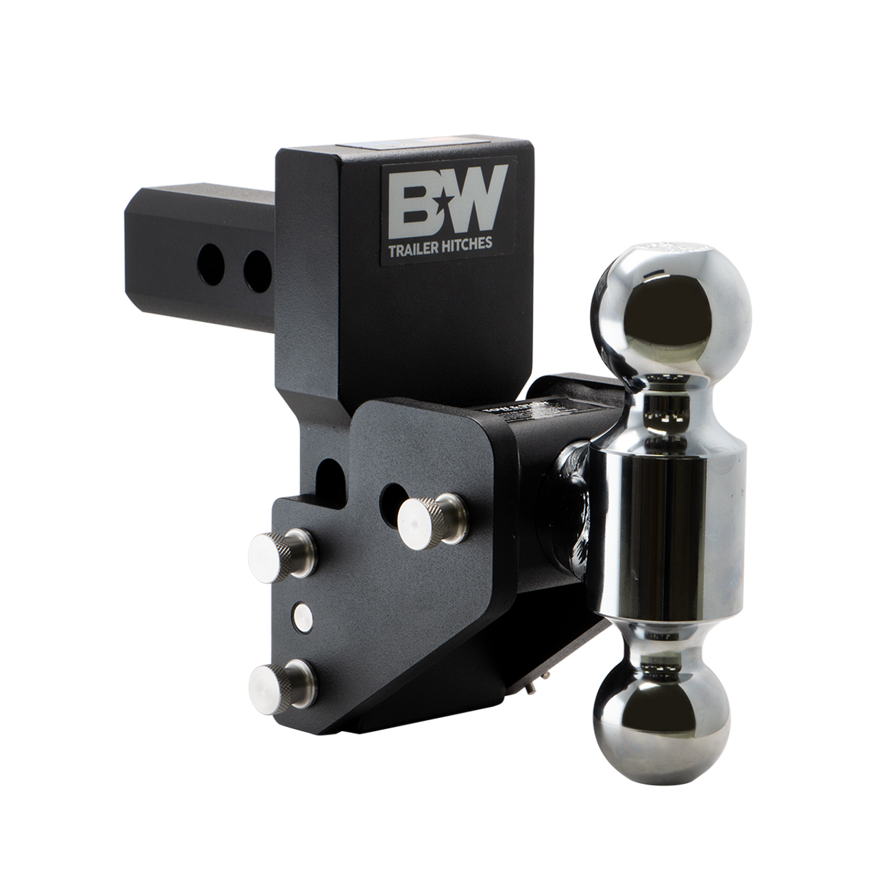 "BW10063BMP --- 2"" Shank Tow and Stow compatible with GM Multi-Pro Tailgate - Two Hitch Balls, 2.5"" Maximum Drop"