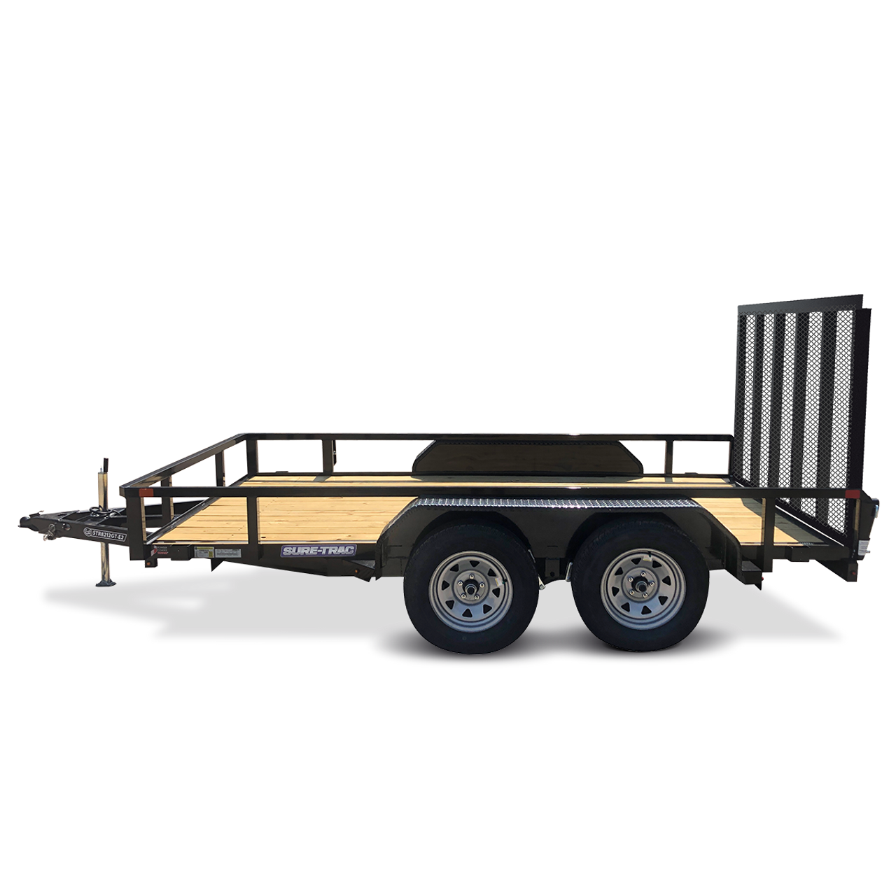 "STR8212GT-E2 --- 82"" x 12' Trailer with Tube Top Rails and Ramp Gate"