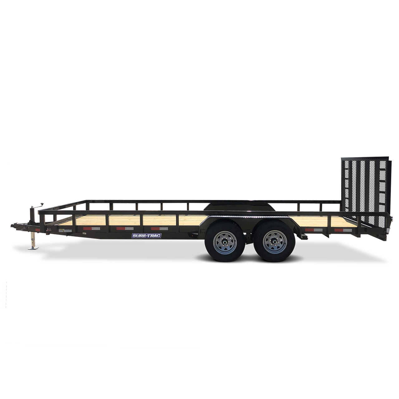 """STR8220GT-E2 --- 82"""" x 20' Trailer with Tube Top Rails and Ramp Gate"""