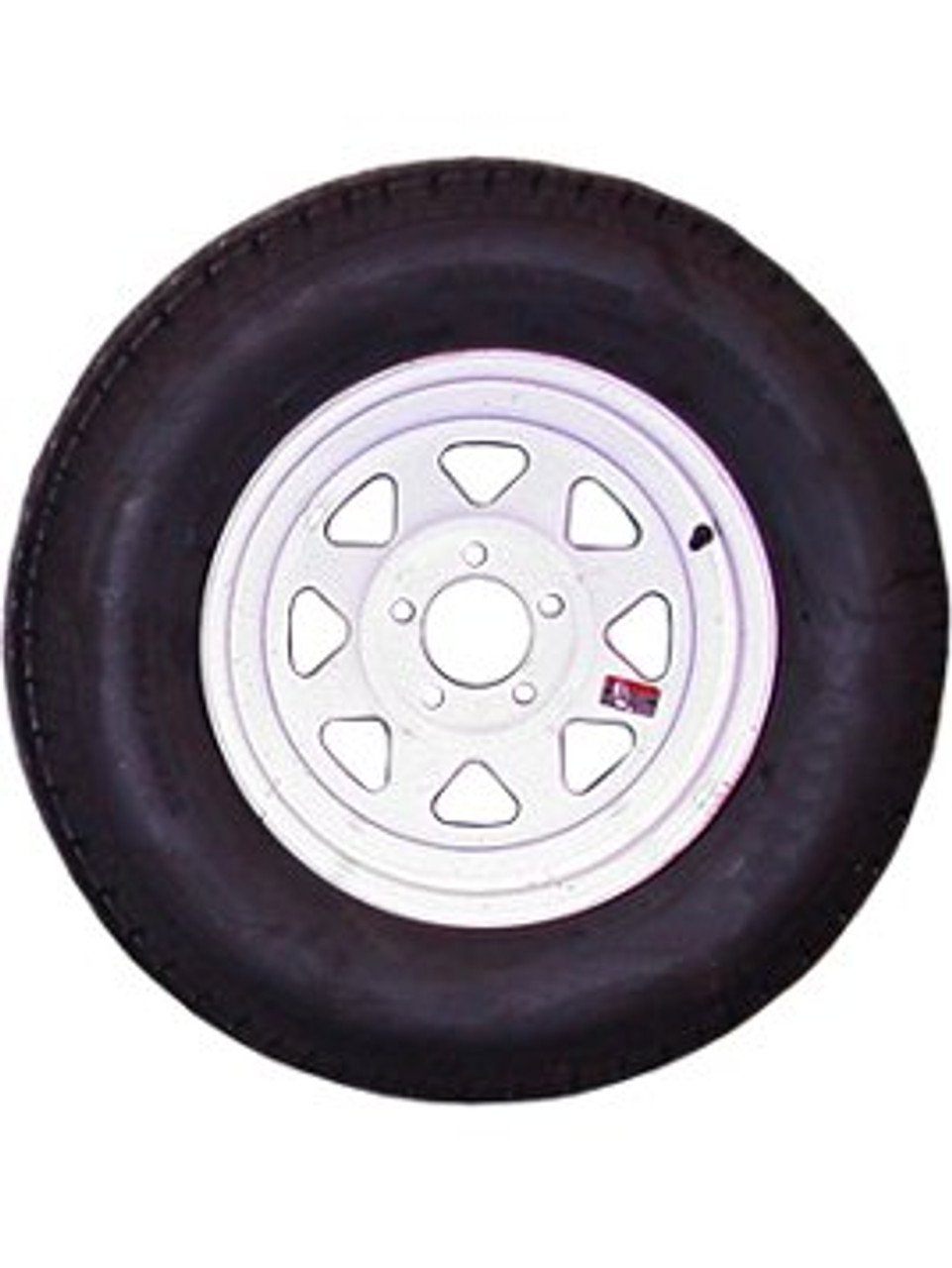"WT15-5475WSRD --- 15"" Trailer Wheel and Tire Assembly, 5 on 4.75""- 8ply"