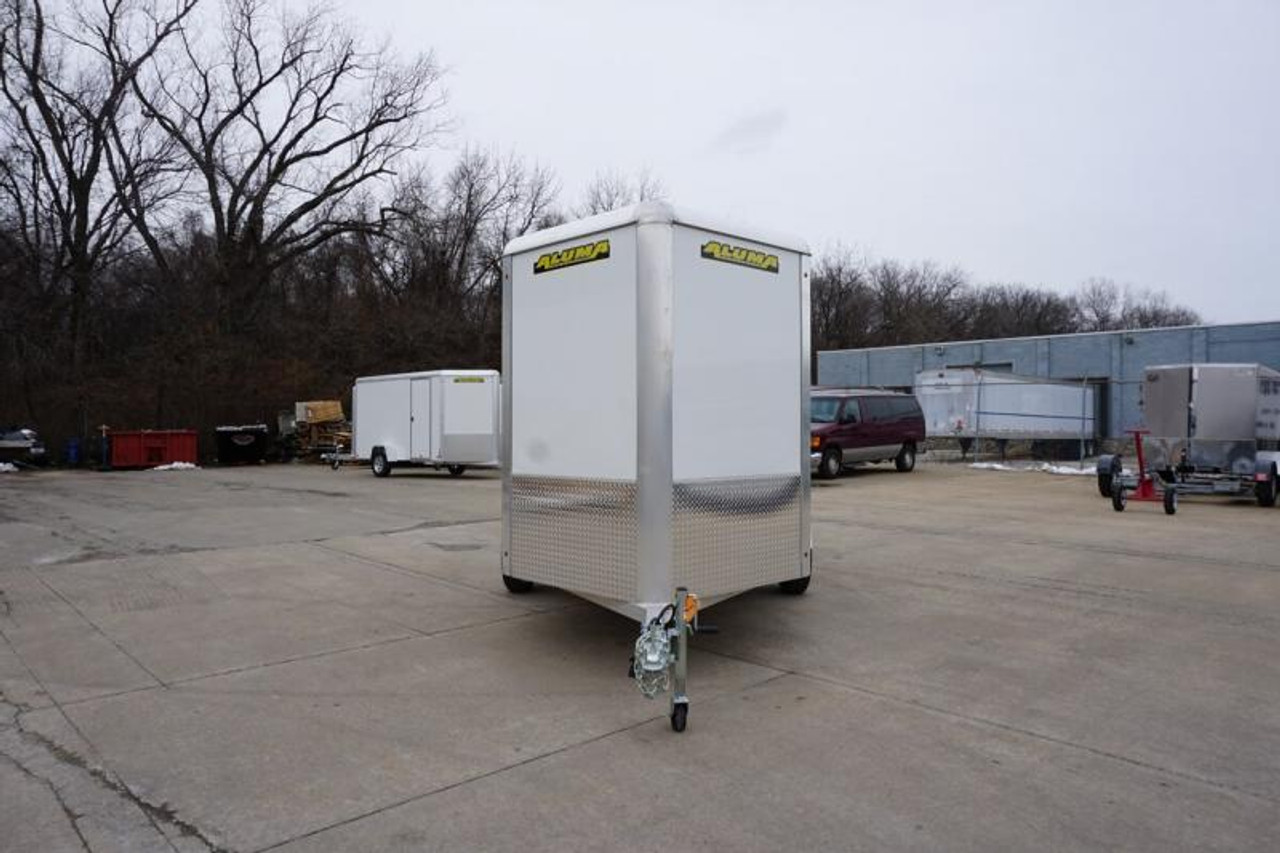 AL610SADRD --- Aluma 6'x10' Single Axle Enclosed w/ Ramp Door #AL6002