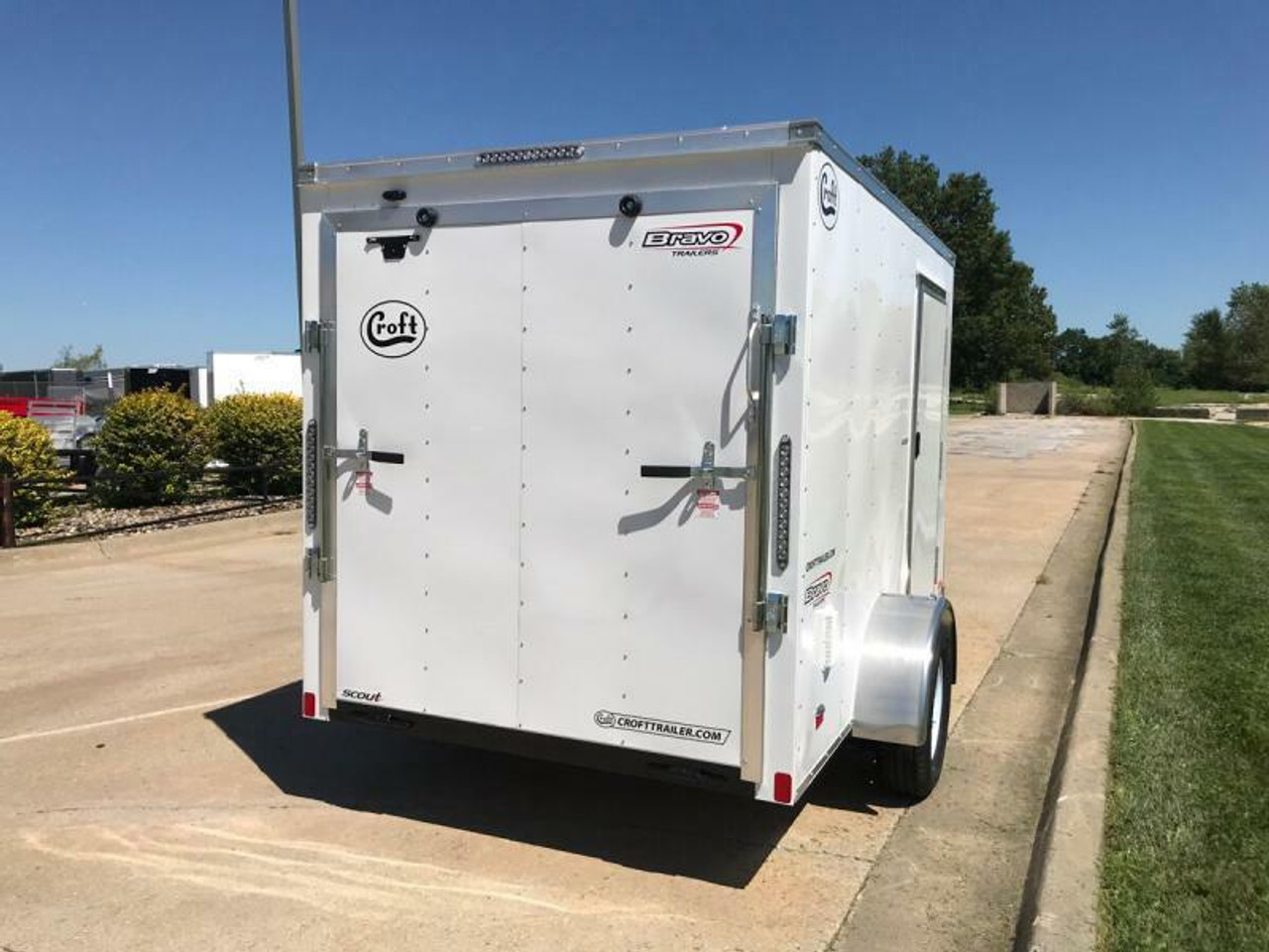 SC610SADRD --- 2021 Bravo 6'x10' Enclosed w/ Ramp Door #BR6806