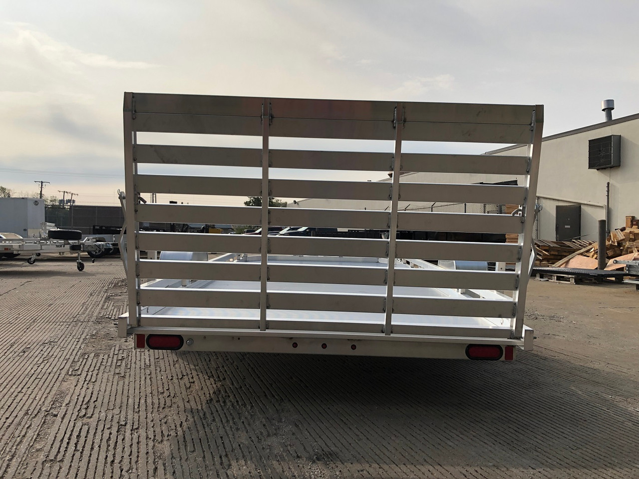 "AL7814ST --- 2021 Aluma 78""x14' Aluminum Utility Trailer #AL6806"