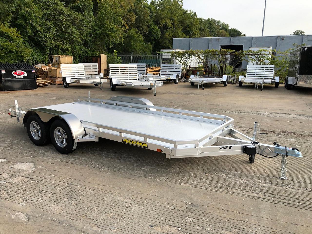 AL7816 --- 2021 Aluma 78x16' Flatbed Utility Trailer - 7k #AL7122