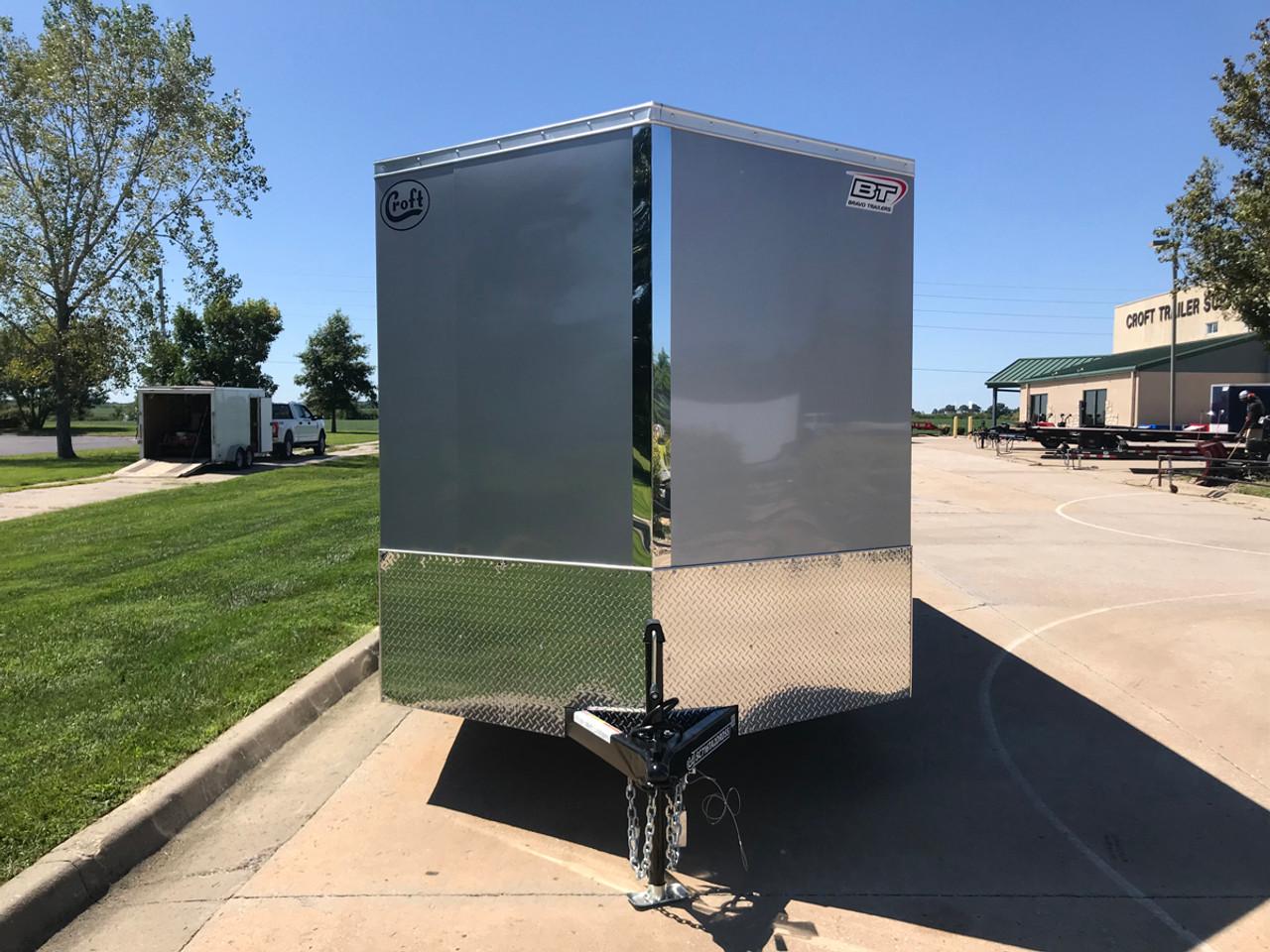 SC716TA2DRDSS --- 2021 Bravo 7'x16' SS Enclosed w/ Ramp Door #BR7174