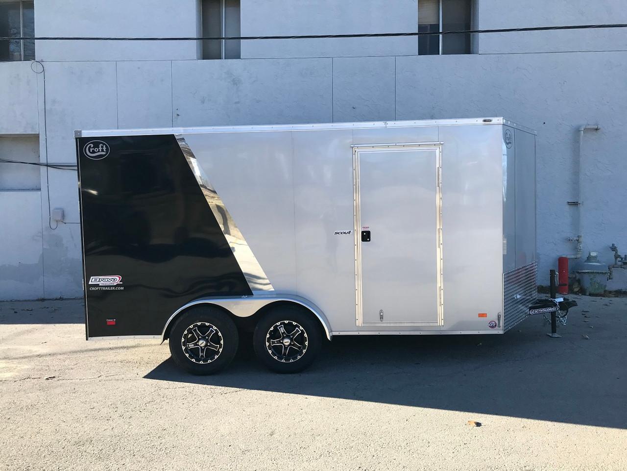 SC714TA2DRDSS --- 2021 Bravo 7'x14' SS Enclosed w/ Ramp Door #BR4677