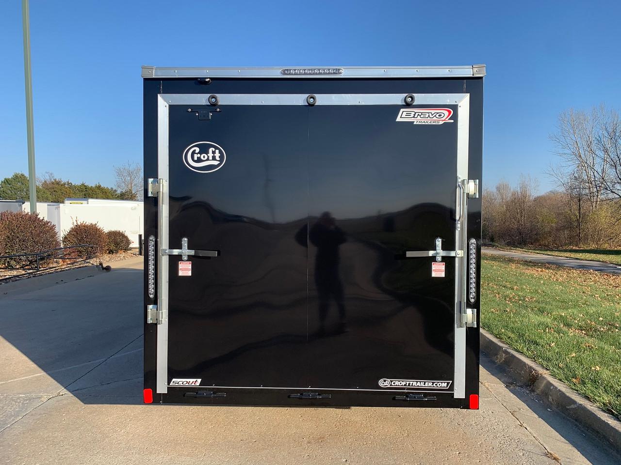 SC716TA2DRDSS --- 2022 Bravo 7'x16' SS Enclosed w/ Ramp Door #BR9022