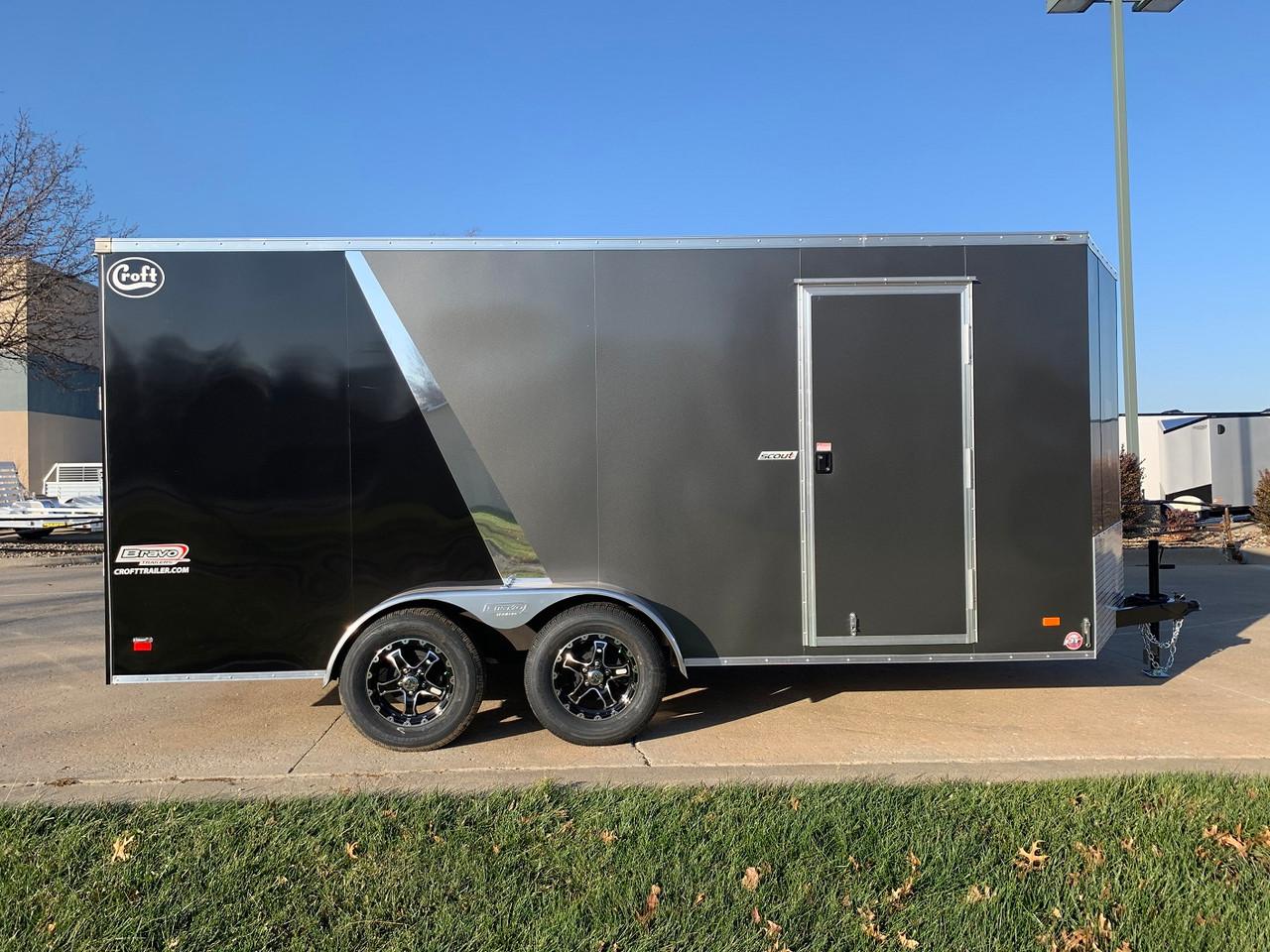 SC716TA2DRDSS --- 2021 Bravo 7'x16' SS Enclosed w/ Ramp Door #BR4678