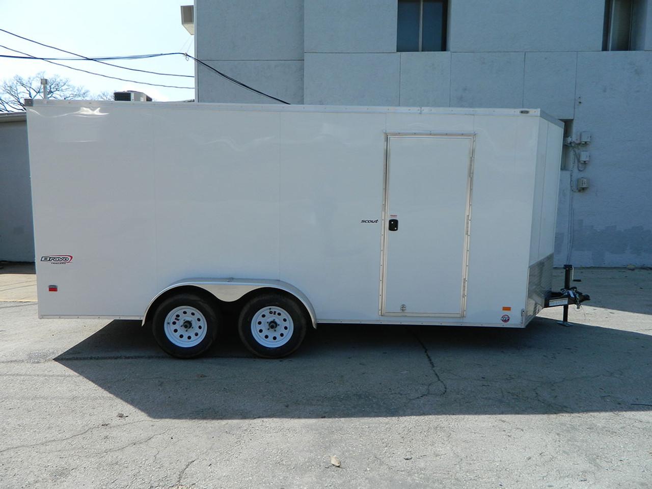 SC716TA2DRDGT --- 2021 Bravo 7'X16' Enclosed w/ Ramp Door #BR5089