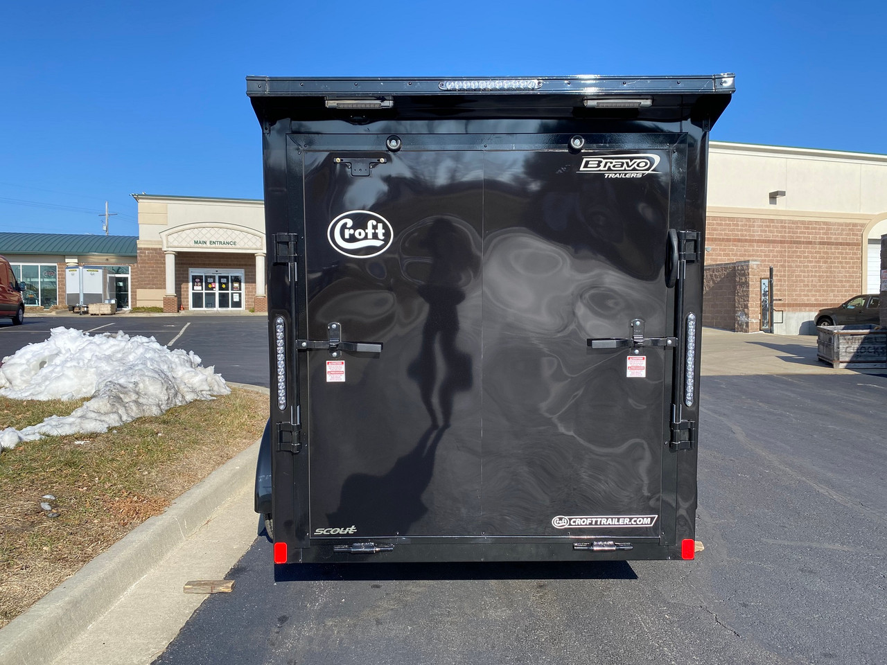 SC612TA2DRDMN --- 2021 Bravo 6'x12' MN Enclosed w/ Ramp Door - MIDNIGHT EDITION! #BR5062